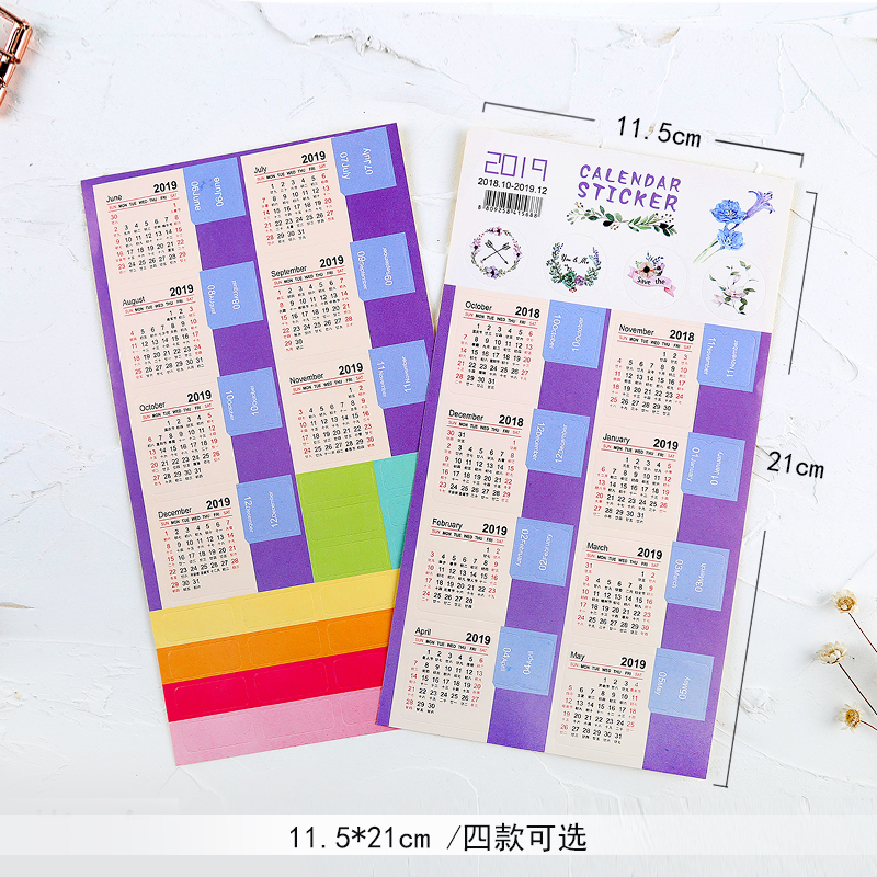 Sticker, Label, Decorative, pack, Index, Calendar