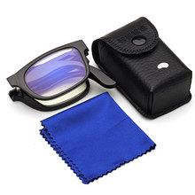 Unisex okulary Vision lupa powiększające okulary do czytania przenośny prezent dla rodziców Presbyopic 100-400 stopni tanie tanio Inpelanyu Styl noszenia E1023-01 Brak Z tworzywa sztucznego Black 100 150 200 250 300 350 400 degree Presbyopic Glasses