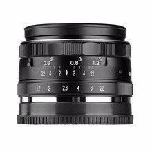 Bestonly recém meike mk-4/3-35 1.7-35mm f 1.7 grande abertura foco manual lente aps-c para 4/3 sistemas de câmeras olympus panasonic