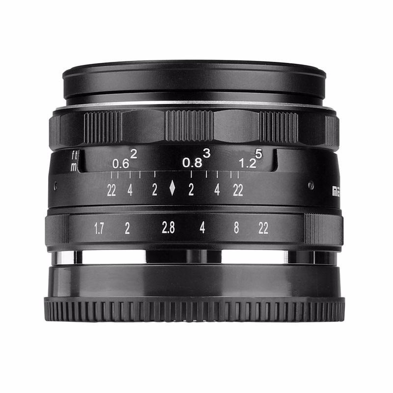 Bestonly neu meike mk-4/3-35-1,7 35mm f 1,7 große blende manuellen fokus-objektiv aps-c...