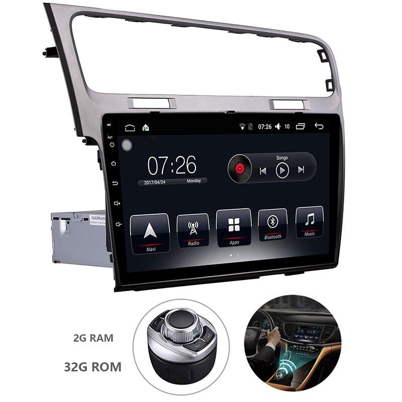 Android 7.1 voiture GPS 1 Din 10.1 pouces écran tactile voiture DVD Radio lecteur multimédia pour Volkswagen Golf 7 2013-2015
