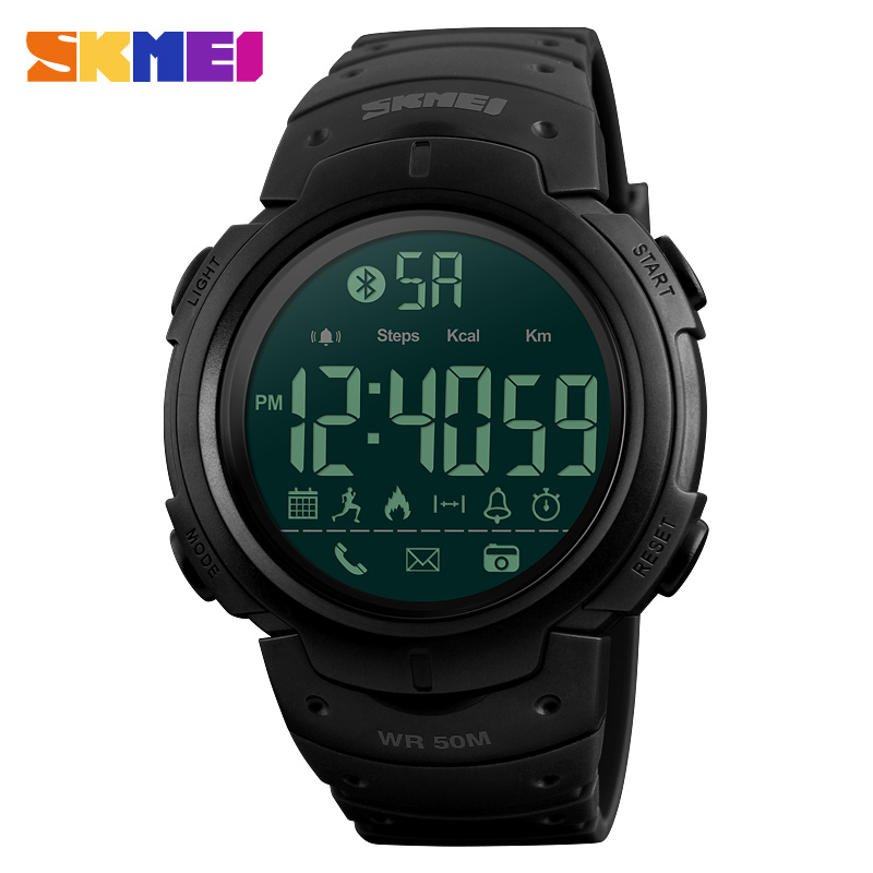 SKMEI Smart Watch Men Sports Watches 50M Waterproof Bluetooth SmartWatch Pedometer Call reminder Stopwatch Clock for Android IOS smart watch men women sports watches waterproof bluetooth smartwatch pedometer call reminder fitness track clock for android ios