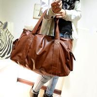 Women Bags PU Tote Solid Zipper Large Capacity Shopping Bag Fashion Female Shoulder Bags Foldable Casual