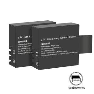 Image 4 - Chargeur de batterie double Port avec 2 pièces batterie 900mAh pour Sjcam M10 Sj4000 Sj5000 Sj 5000 caméra daction Sj9000 accessoire