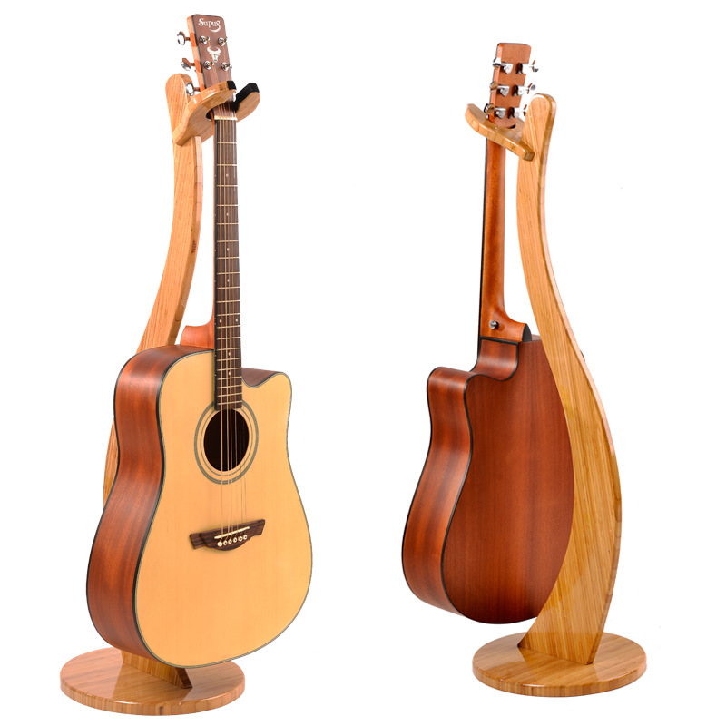 Universal Handmade Removable Solid Wood Guitar Holder Stand For Bass Classical Electric Guitar Pipa