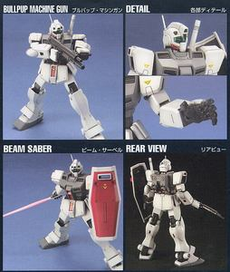 Image 4 - Bandai Gundam 20465 HGUC 1/144 RGM 79D GM Cold District typ mobilny garnitur montaż zestawy modeli figurki Model z tworzywa sztucznego