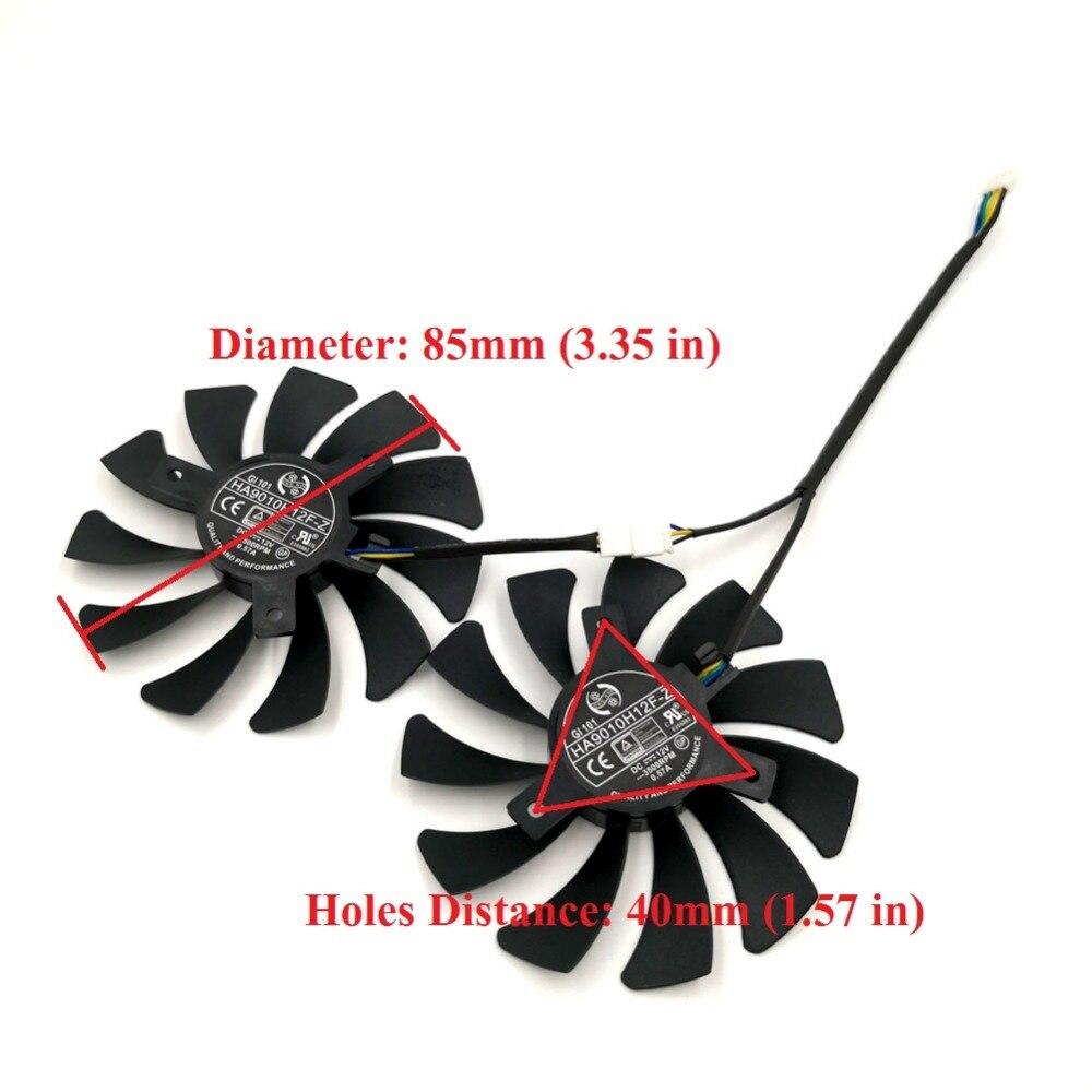 1 пара из 2 шт. HA9010H12F-Z Замена Графика вентилятор для Видеокарта MSI ураган GTX 1050/2 г GTX1050 Ti/ 4 г GTX 1060 6GT OC