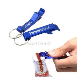Image 3 - 200pcs/lot promotion customed printed logo gift Metal aluminum alloy bottle opener metal keychain laser LOGO