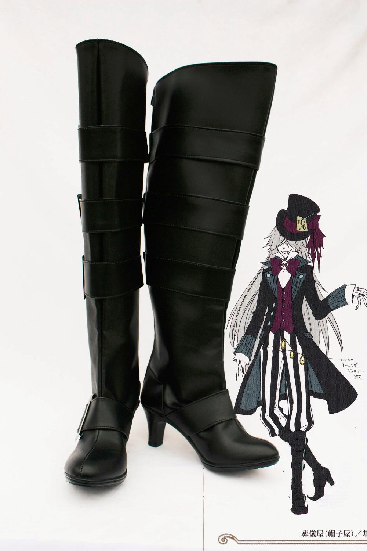 Botas de zapatos de entallador a medida del mayordomo negro - Disfraces