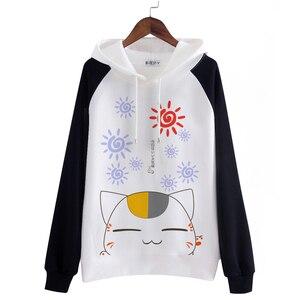Image 2 - Unisex mężczyźni kobiety Anime natsume yuujinchou bawełniana bluza z kapturem Nyanko Sensei kot płaszcze dresowe Cosplay kostiumy