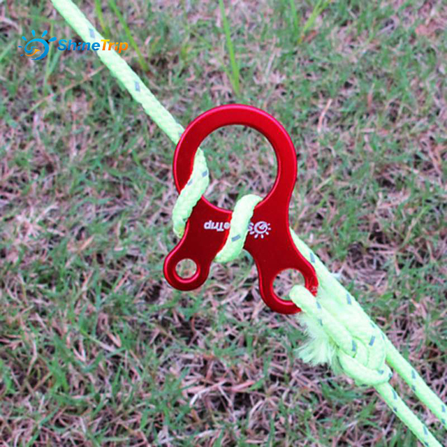 ShineTrip 8pcs aluminum alloy tent rope knot buckle tents awning wind rope Slide lock rope buckle & ShineTrip 8pcs aluminum alloy tent rope knot buckle tents awning ...