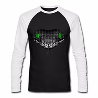 2018 New Fashion Men S Snake Design Print Raglan T Shirt Camisetas Hombre New Brand Top