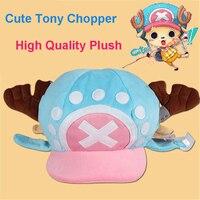 Hot Sale 2015 COSPLAY One Piece Tony Chopper Cosplay High Quality Plush Hats Animation Cos Stuffed Cap PP Cotton Inside Headwear