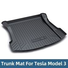 Car Trunk Mats For Tesla Model 3 2018-2019 Cargo Liner Rear Tray Floor Protective Mat