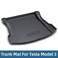 Car Trunk Mats For Tesla Model 3 2018 2019 Cargo Liner Rear Cargo Tray Trunk Floor Protective Mat