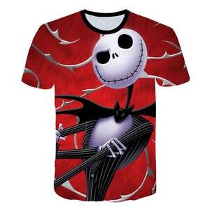 Camiseta 3DT Anime la pesadilla antes de Navidad camiseta hombres mujeres  manga corta verano novedad camiseta b519c3e702fd5