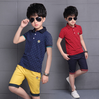 Children Clothes 2018 Summer Baby Boys Clothes Polo Shirt Shorts Outfit Kids Clothes Boys Sport Suit