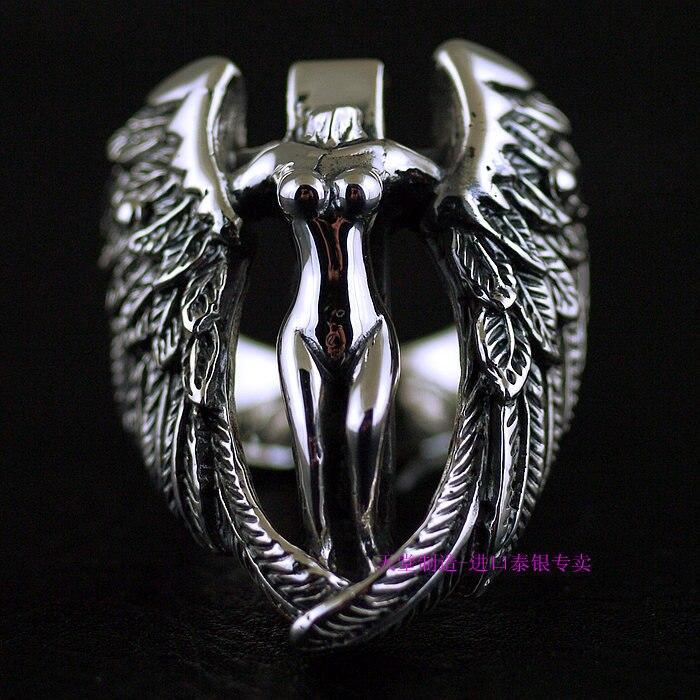 Bague en argent sterling 925 avec ange Passion