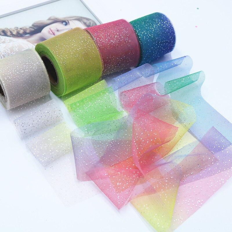"""Cinta del grosgrain arco iris colorido patrón de círculo 1/"""" 25 mm"""