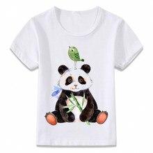 67688bace3296 Kids Clothes T Shirt Cute Panda Eating Bamboo Cat Owl Children T-shirt for  Boys