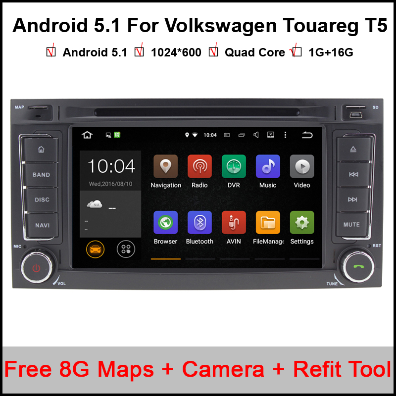 1024x600 android 5 1 1 quad core car dvd gps radio for. Black Bedroom Furniture Sets. Home Design Ideas