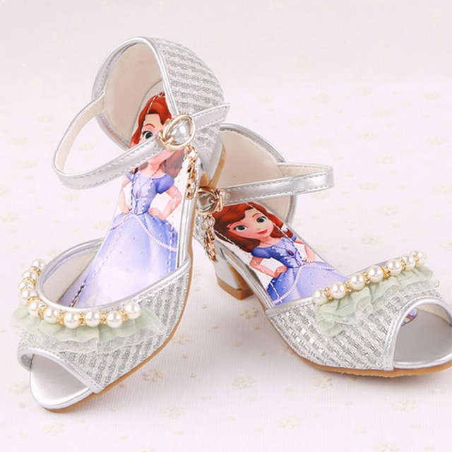 5c60a19375 US $24.65 |New style baby sandals girl shoes Sofia Princess Sandals  children shoes High Heels kids girl party shoes-in Sandals from Mother &  Kids on ...