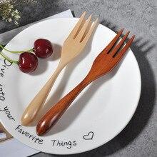 Натуральная деревянная Ложка Вилка бамбуковая кухня, кухонная утварь инструменты суп-Чайная ложка столовые приборы вилка кухонная посуда
