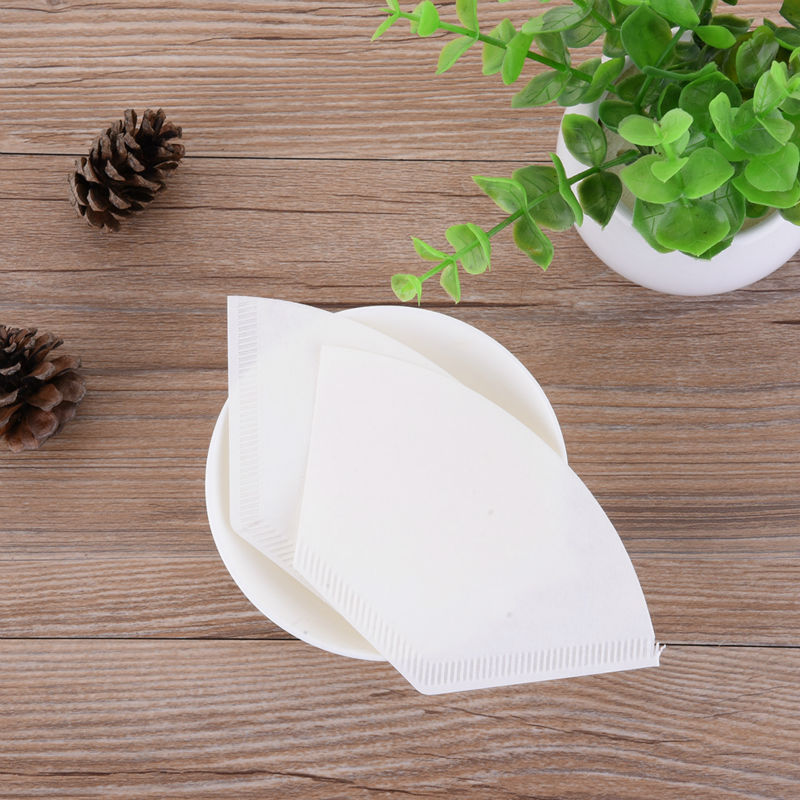 40Pcs/Lot White Coffee Filters Single Paper for Coffee Machine No.102 2-4 People White Filter Paper Cake Cup Coffee Filter Paper(China (Mainland))