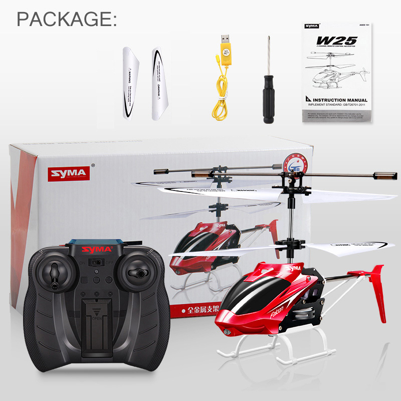 Image 3 - Syma W25 2 Channel Indoor Mini RC Helicopter Drone 2 Channel Indoor Remote Control Aircraft with Gyro Radio Control Toys gift-in RC Helicopters from Toys & Hobbies