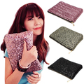 Glitter Sparkling Sequins Dazzling Clutch Evening Party Bag Handbag Bling Purse  9IHX