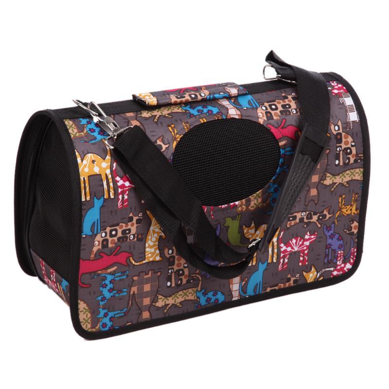 Portable Soft Pet Dog Cat Carrier Comfort Travel Tote Shoulder Bag Crate Cage House Kennel Dog Cage Handbag with Mesh Windows