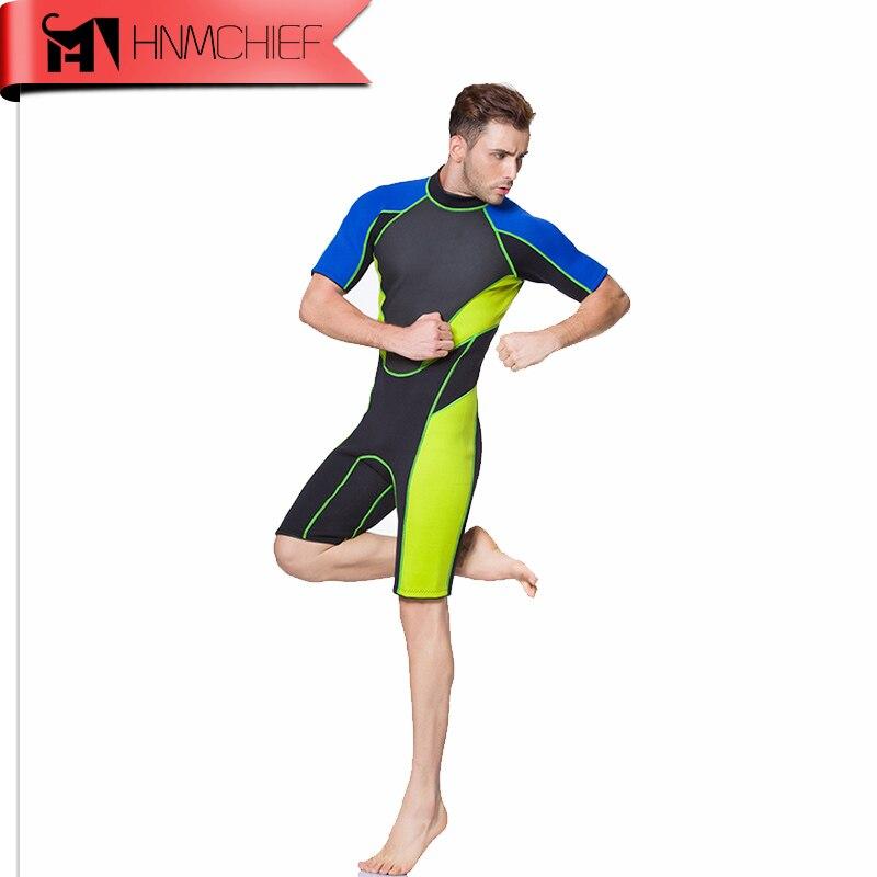 2017 Summer 3MM Neoprene Short Sleeved Wetsuit for Men Scuba Dive Spearfishing Winter Warm Full Body