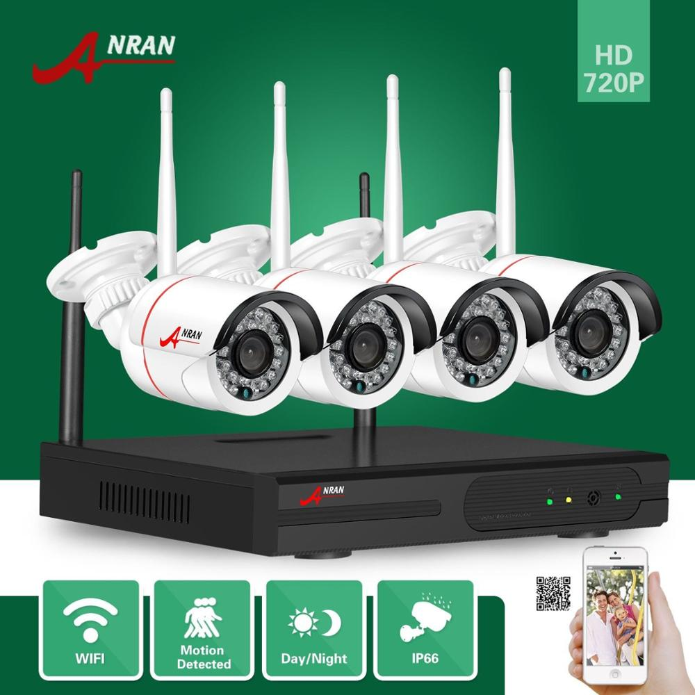 ANRAN Plug Play P2P 4CH HD NVR Wireless 720P Wifi Outdoor Day Night Network Home Video