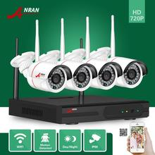 ANRAN Plug Play P2P 4CH HD NVR Wireless 720P Wifi Outdoor Day Night Network Home Video Surveillance Security IP Camera System
