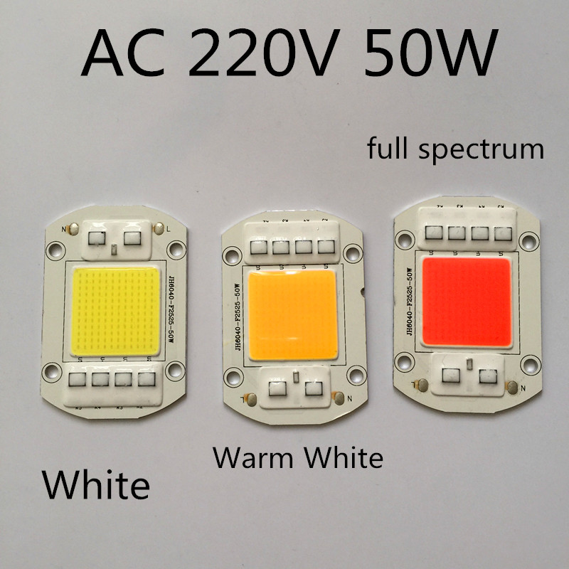 LED High voltage AC220v LED chip 50w high power LED integrated light beads Super bright 220 v direct use 50W Full Spectrum Red
