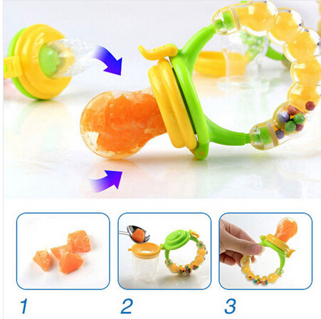 S/M/L New Kids Nipple Fresh Fruits Pacifier Food Milk Nibbler Feeder Feeding Safe Baby Supplies Nipple Teat Pacifier Bottles Top