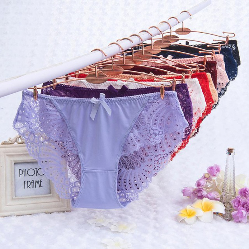 6XL Sexy Panties Women Underwear Lace Briefs Calcinhas Lingeries Seamless Panty Plus Size Shorts Underpant Lady Girl Flower Pant