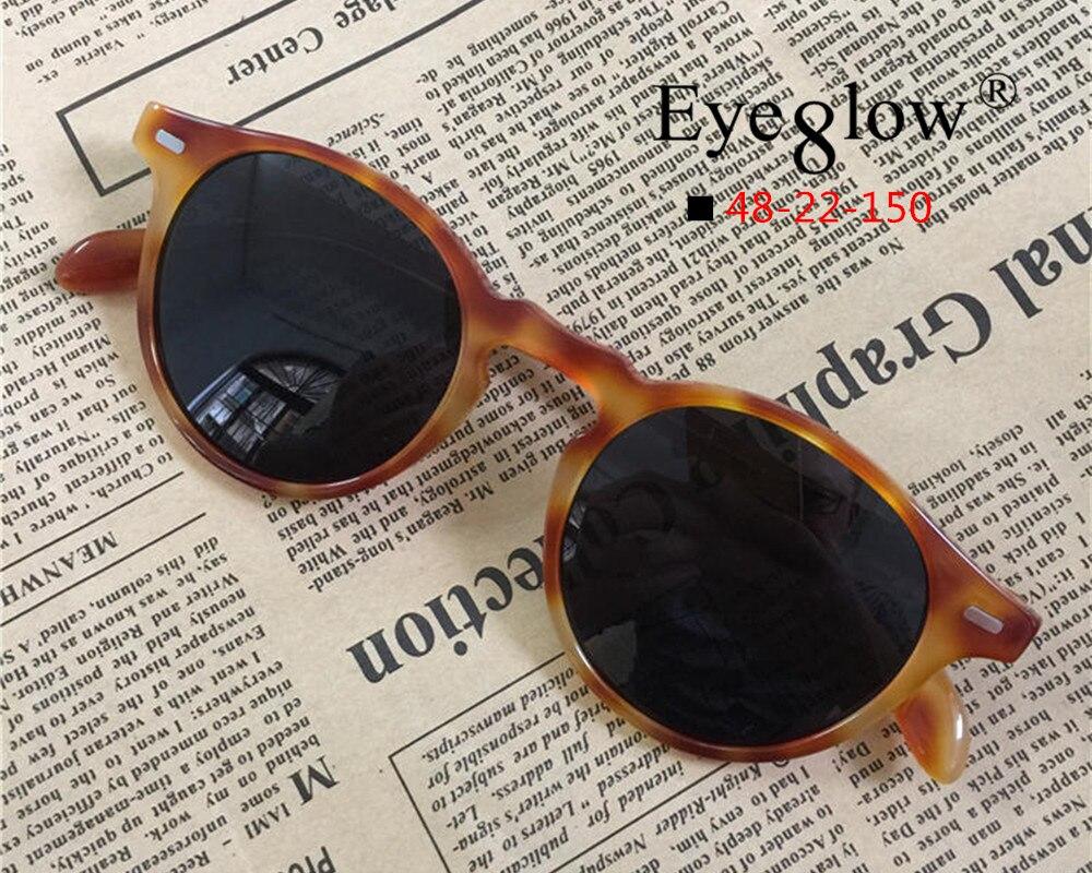 EyeGlow fashion brand design polarized sunglasses men and women round retro UV400 sun glasses for Driving and fishing eyeglasses