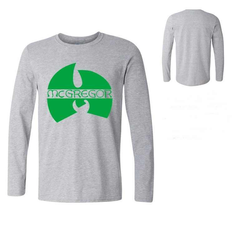 Hombres MMA camiseta estilo único Inglaterra Tops tee hipster camisetas camiseta Notorious Conor McGregor manga larga camiseta