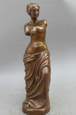 Copper Brass CHINESE crafts Asian 14 Western Bronze Copper West Belle Statue Art Sunder Arms Sculpture Copper Brass CHINESE crafts Asian 14 Western Bronze Copper West Belle Statue Art Sunder Arms Sculpture