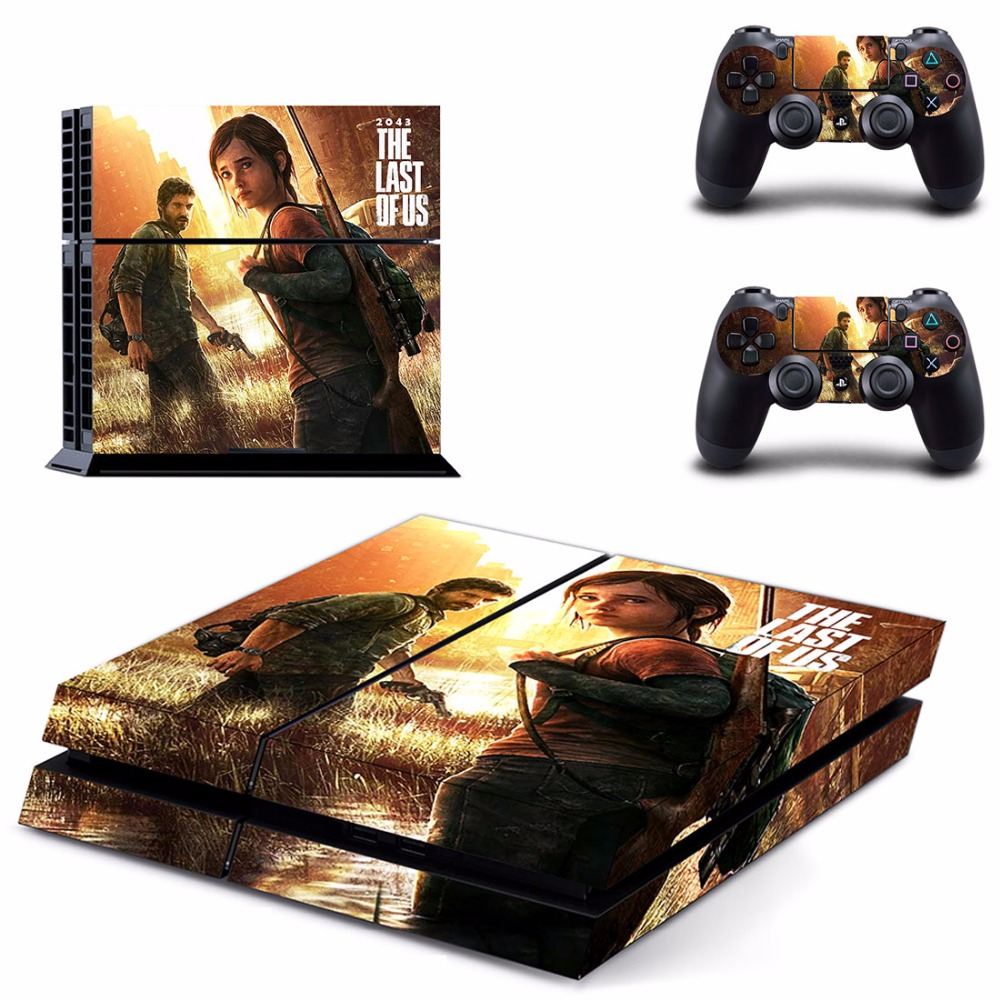 2043 The Last of US PS4 Designer Skin Game Console System plus 2 Controller Decal Vinyl Protective Covers Stickers