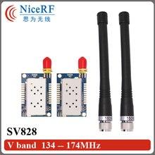 2pcs/lot 5km long distance 1W 134MHz to 174MHz VHF walkie talkie Module