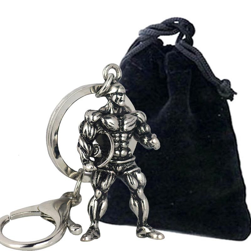 Fitness-Charm-Keychain-Vintage-Silver-Muscle-Man-Sports-Hold-Barbell-Stainless-Steel-Car-Keys-Gym-Wallet (4)