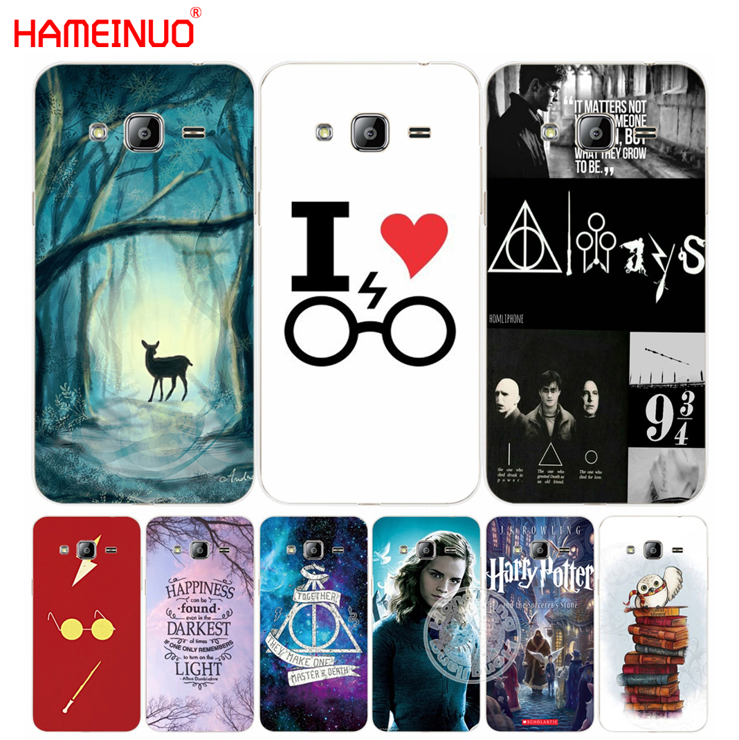HAMEINUO harry potter deer owl hallow quotes cover phone case for Samsung Galaxy J1 J2 J3 J5 J7 MINI ACE 2016 2015