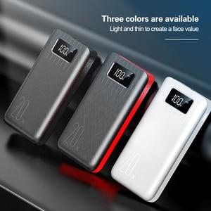 Image 4 - 20000mAh Power Bank Dual USB Powerbank With LED Display Portable Poverbank External Battery For Xiaomi Mi9 iPhone Samsung Huawei
