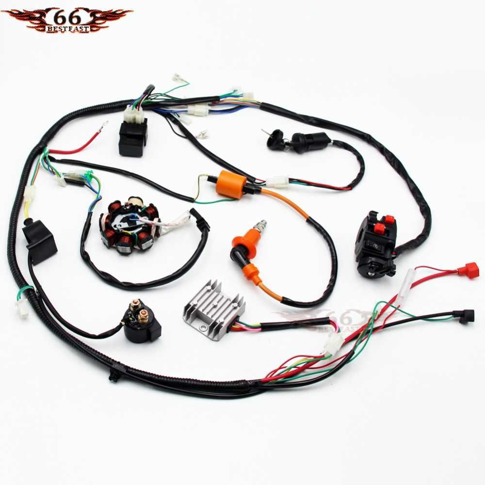 Full Electrics Wiring Harness Performance Coil CDI 150 200 250cc ATV Quad Bike Buggy Go Kart