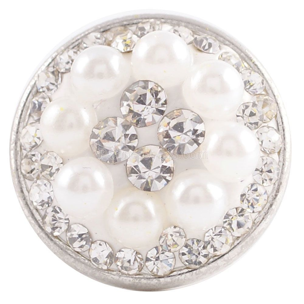 Partnerbeads Handmade 18MM Rhinestone Snap Buttons For DIY Snap Pendant High Quality Charm Jewelrys Wholesale KC2727