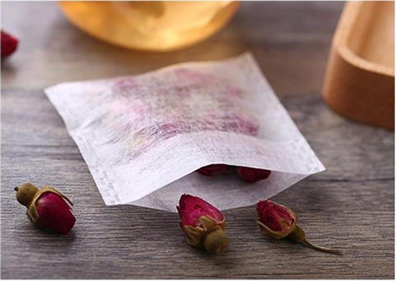 100x Biodegradable Natural Corn Fiber Tea Bag Tea/Herb Filters 6