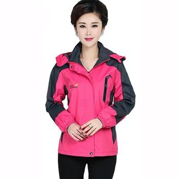 2019 Spring Autumn New Women Jacket Middle-aged Long Sleeve Sports Coat Hooded Windbreak Female Zipper Jacket Plus Size 4XL R958