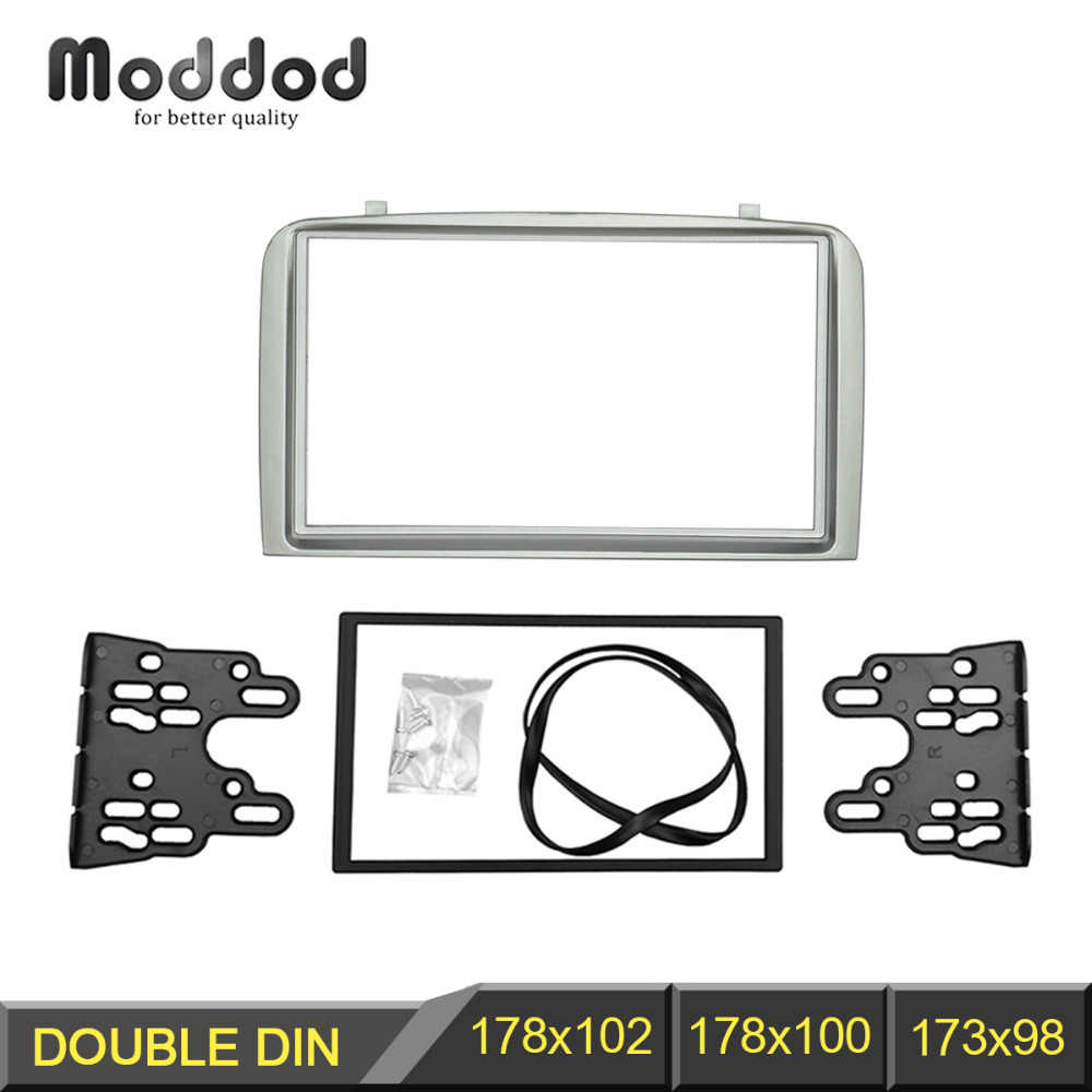 цена на Double Din Facia for Alfa Romeo 147 Radio DVD Stereo CD Panel Dash Mounting Installation Trim Fascia Kit Face Frame Bezel